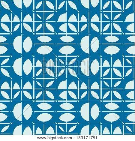 Vector abstract seamless symmetric ornate background created with simple geometric shapes circles.