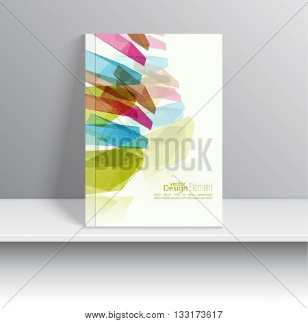 Magazine Cover with colored crystals, trellis structure. For book, brochure, flyer, poster, booklet, leaflet, postcard, business card, annual report. vector illustration. abstract background. one