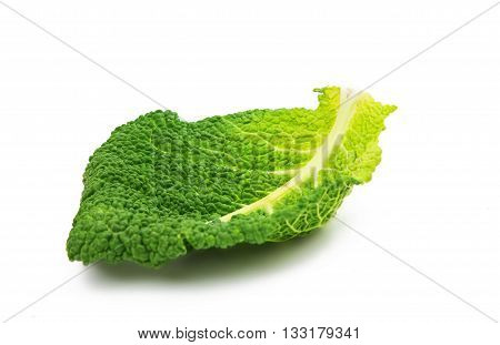 natural Savoy cabbage isolated on white background