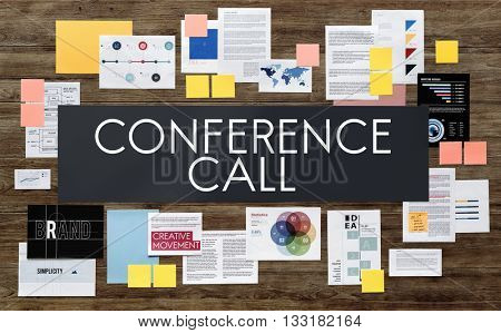 Conference Call Meeting DIscussion Talking Technology Concept