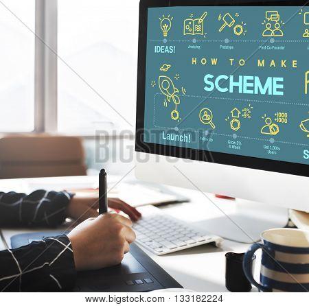 Scheme Project Sketch Strategy Layout Sketch Concept