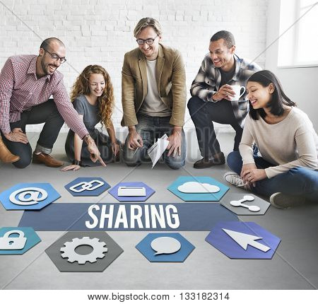 Sharing People Technology Graphic Concept