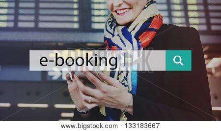 E-booking Business Commerce Digital Technology Concept