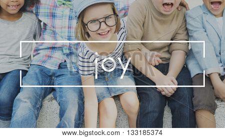 Fun Happy Enjoy Laugh Emotion Concept