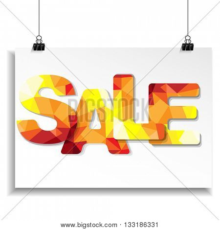 Sale Banner With Text, Vector Illustration