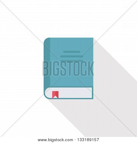 Book icon with long shadow. Flat design style vector illustration.