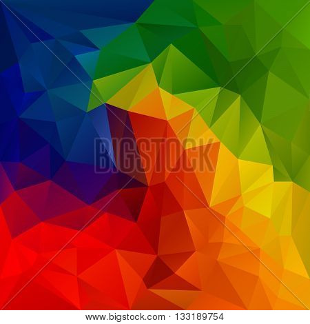 vector abstract irregular polygon background with a triangular pattern in spectrum color full rainbow colors