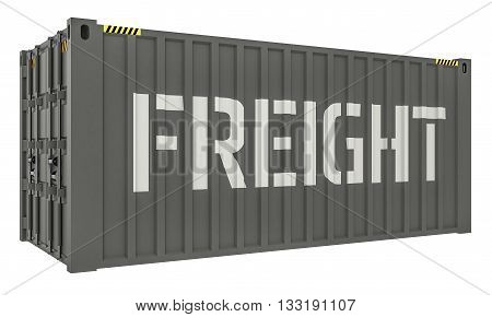3D Illustration of Cargo containers isolated on white background