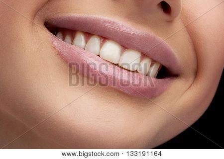 sexy smiling girl in photo studio 1