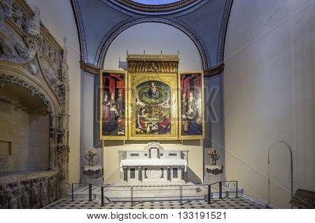 Famous Altar In Cathedrale Sainte Sauveur In Aix-en-provence