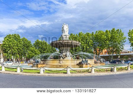The Fontaine De La Rotonde Fountain