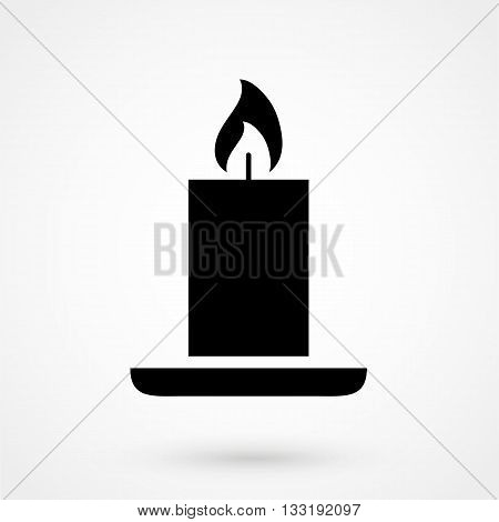 Candle Icon Vector In A Simple Style