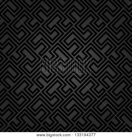 Seamless geometric pattern by stripes. Modern vector background with repeating lines. Seamless geometric background. Dark pattern
