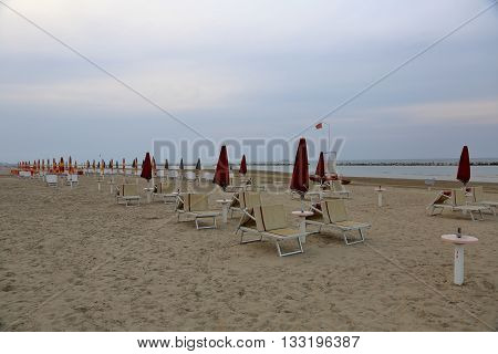 Deserted Beach At The Resort