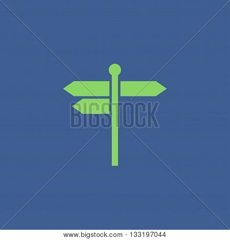signpost icon. Flat Vector illustration EPS 10