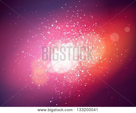 Soft background with pink light and bokeh, vector