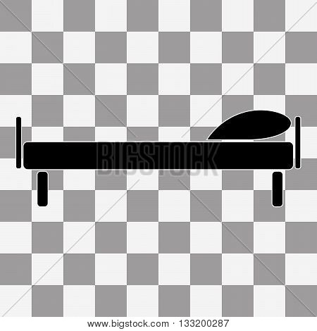 Flat Vector illustration The bed icon. Hotel symbol on transparency background