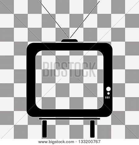 Vector TV icon picture on transparency background