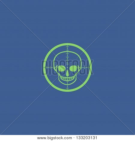 Crosshair Icon With A Skull