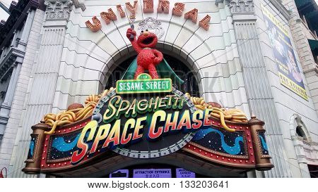 Spaghetti Space Chase Ride At Universal Studios