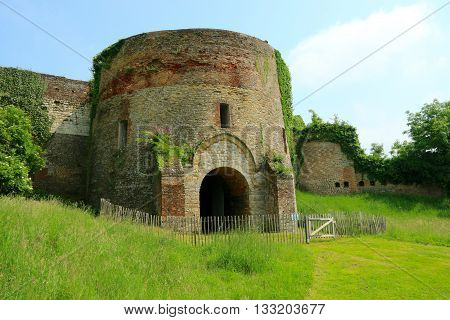 RAMPARTS AND TOWERS OF MONTREAL ON SEA, PAS DE CALAIS , THE NORTH OF FRANCE