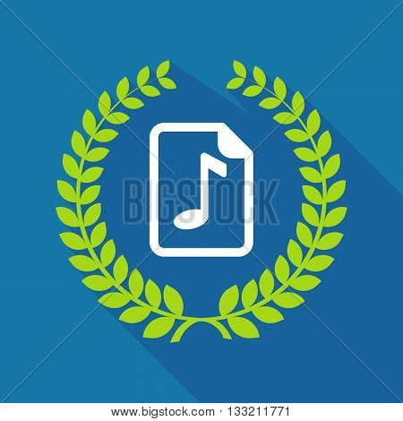 Long Shadow Laurel Wreath Icon With  A Music Score Icon