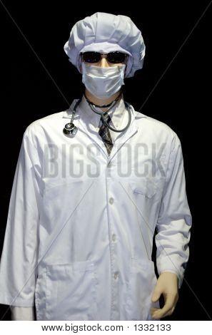 Doctor Over Black Background