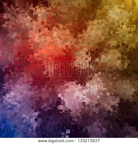 Pixel background, Pixelate Effect, Geometric background with squares, Vector illustration