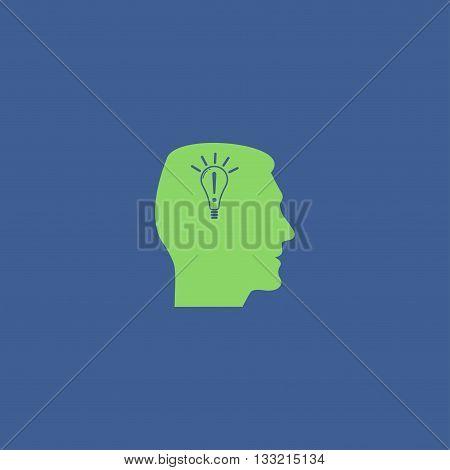 Pictograph of gear in head. Creative Idea