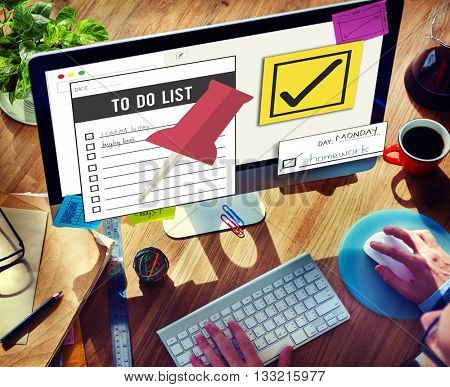 To Do List Time Management Concept