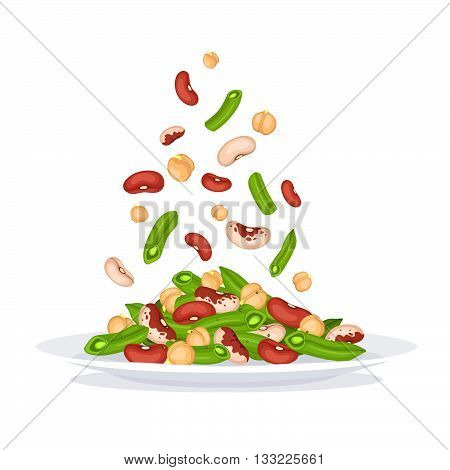 Salad Plate Illustration