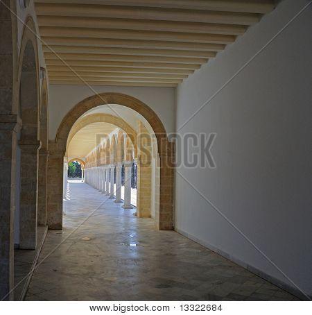 Corridor under arches