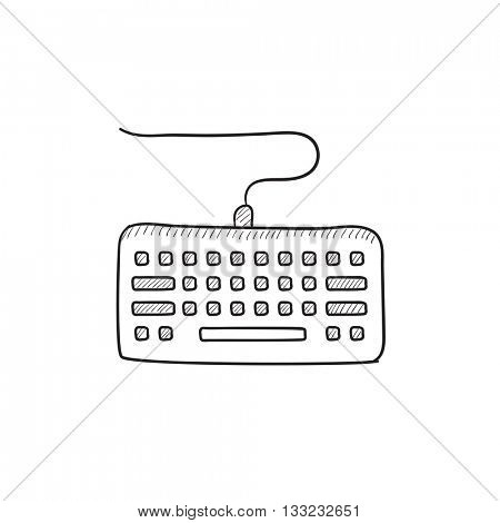 Keyboard vector sketch icon isolated on background. Hand drawn Keyboard icon. Keyboard sketch icon for infographic, website or app.