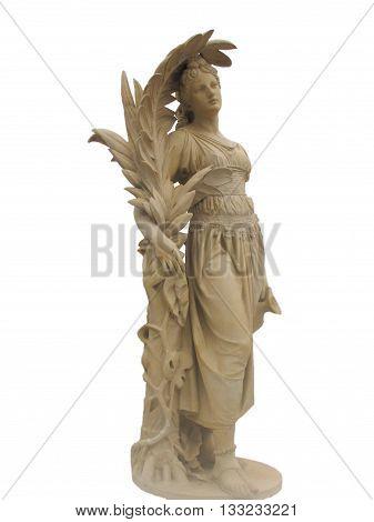 isolated full body of stone venus statue