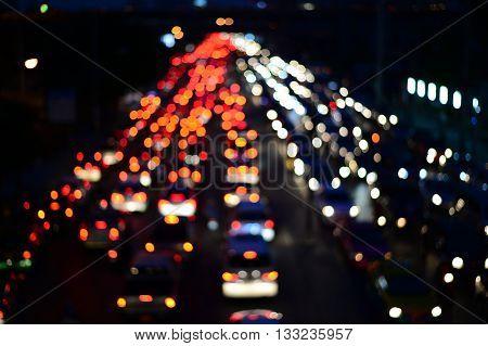 lur city light on street at night