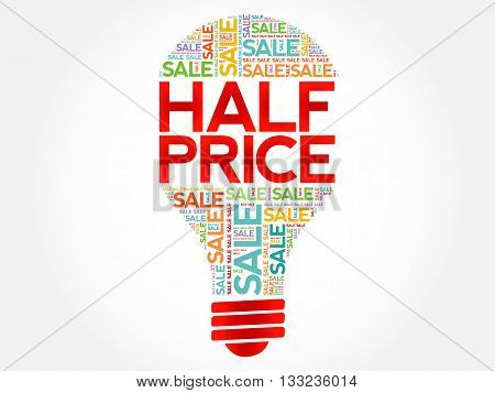 Half Price Sale Bulb Word Cloud
