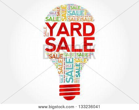 Yard Sale Bulb Word Cloud