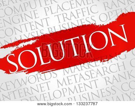 SOLUTION word cloud business concept, presentation background