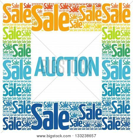 AUCTION words cloud business concept background, presentation background