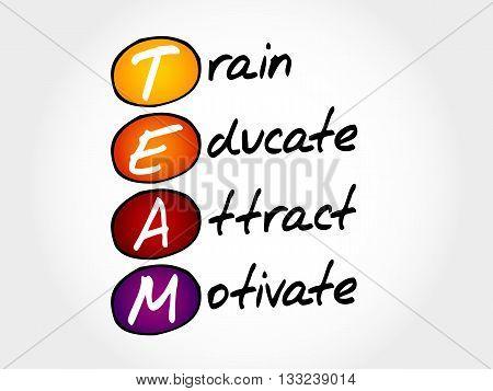 Team - Train, Educate, Attact, Motivate