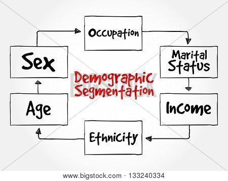 Demographic Segmentation Mind Map