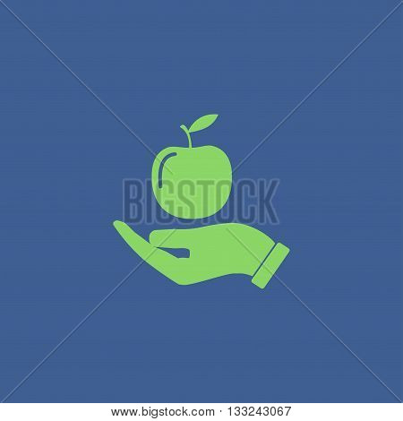 Pictograph of apple. Flat design style eps 10