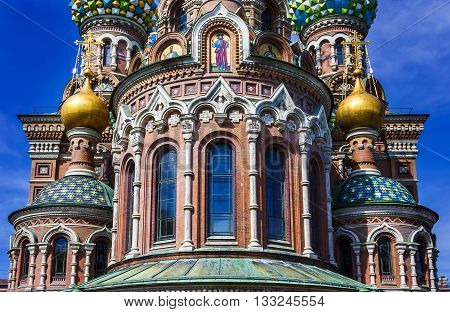 Church of the Savior on Spilled Blood in Saint Petersburg. Russia.