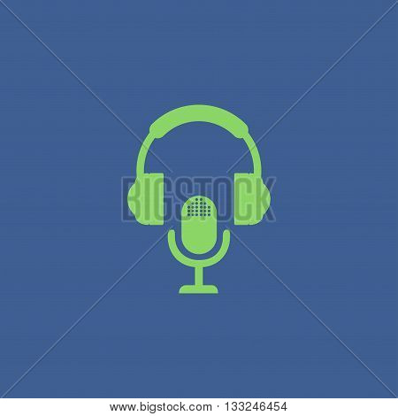 earphone and microphone icon. Concept illustration for design.