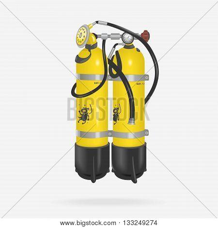 Vector Oxygen Cylinder Diving eps 8 file format