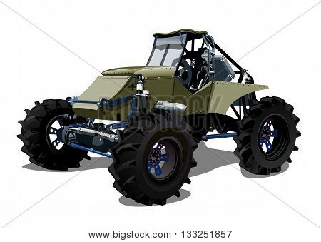 Vector Cartoon buggy. Available EPS-10 separated by groups and layers with transparency effects for one-click repaint