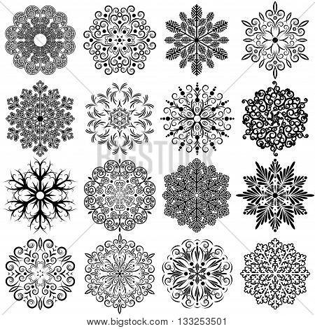 Snowflake Icons. Vector Graphics, Snowflake Icon Snowflake Icon EPS.