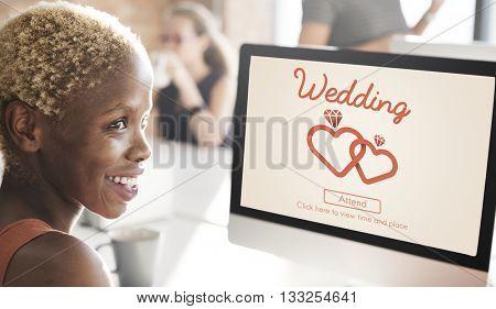 Wedding Day Celebration Ceremony Love Concept