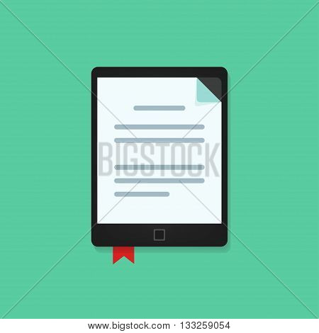 E-book vecot icon isolted, ebook, electronic book reader vector illustration