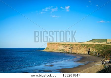 Cliff at Saltburn by the sea North Yorkshire UK